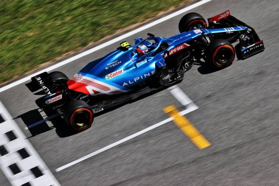 Esteban Ocon (FRA) Alpine F1 Team A521. 08.05.2021. Formula 1 World Championship, Rd 4, Spanish Grand Prix, Barcelona, Spain, Qualifying Day. - www.xpbimages.com, EMail: requests@xpbimages.com © Copyright: Batchelor / XPB Images