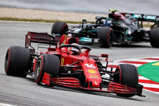 Charles Leclerc (MON) Ferrari SF-21. 09.05.2021. Formula 1 World Championship, Rd 4, Spanish Grand Prix, Barcelona, Spain, Race Day. - www.xpbimages.com, EMail: requests@xpbimages.com © Copyright: Moy / XPB Images