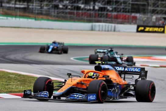 Lando Norris (GBR) McLaren MCL35M. 09.05.2021. Formula 1 World Championship, Rd 4, Spanish Grand Prix, Barcelona, Spain, Race Day. - www.xpbimages.com, EMail: requests@xpbimages.com © Copyright: Batchelor / XPB Images