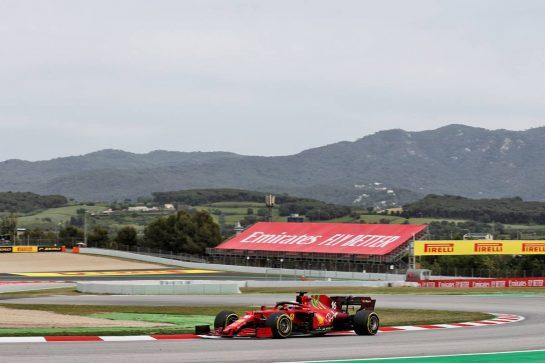 Charles Leclerc (MON) Ferrari SF-21. 09.05.2021. Formula 1 World Championship, Rd 4, Spanish Grand Prix, Barcelona, Spain, Race Day. - www.xpbimages.com, EMail: requests@xpbimages.com © Copyright: Batchelor / XPB Images