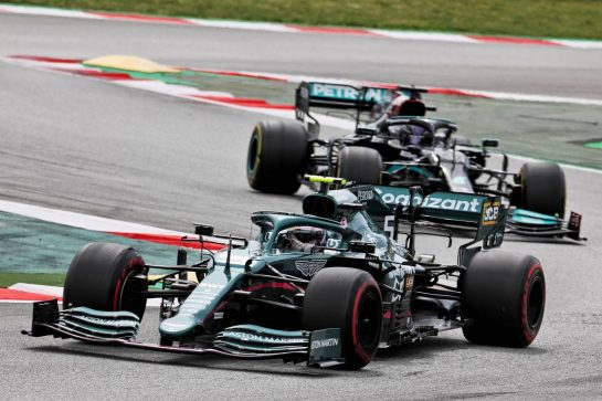 Sebastian Vettel (GER) Aston Martin F1 Team AMR21. 09.05.2021. Formula 1 World Championship, Rd 4, Spanish Grand Prix, Barcelona, Spain, Race Day. - www.xpbimages.com, EMail: requests@xpbimages.com © Copyright: Batchelor / XPB Images