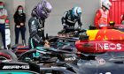Race winner Lewis Hamilton (GBR) Mercedes AMG F1 W12 in parc ferme. 09.05.2021. Formula 1 World Championship, Rd 4, Spanish Grand Prix, Barcelona, Spain