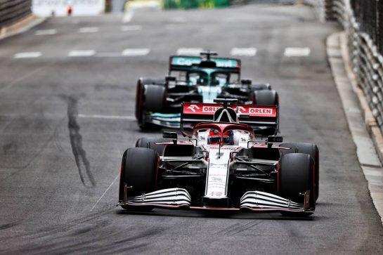 Kimi Raikkonen (FIN) Alfa Romeo Racing C41. 22.05.2021. Formula 1 World Championship, Rd 5, Monaco Grand Prix, Monte Carlo, Monaco, Qualifying Day. - www.xpbimages.com, EMail: requests@xpbimages.com © Copyright: Moy / XPB Images