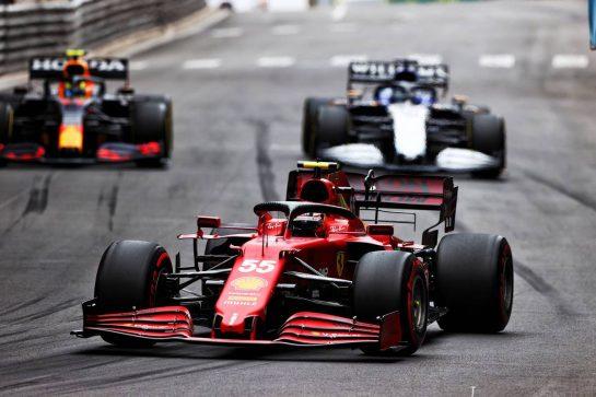 Carlos Sainz Jr (ESP) Ferrari SF-21. 22.05.2021. Formula 1 World Championship, Rd 5, Monaco Grand Prix, Monte Carlo, Monaco, Qualifying Day. - www.xpbimages.com, EMail: requests@xpbimages.com © Copyright: Moy / XPB Images