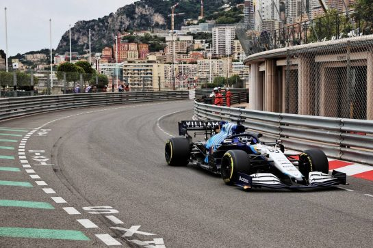 George Russell (GBR) Williams Racing FW43B. 22.05.2021. Formula 1 World Championship, Rd 5, Monaco Grand Prix, Monte Carlo, Monaco, Qualifying Day. - www.xpbimages.com, EMail: requests@xpbimages.com © Copyright: Batchelor / XPB Images