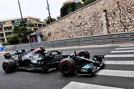 Valtteri Bottas (FIN) Mercedes AMG F1 W12. 22.05.2021. Formula 1 World Championship, Rd 5, Monaco Grand Prix, Monte Carlo, Monaco, Qualifying Day. - www.xpbimages.com, EMail: requests@xpbimages.com © Copyright: Batchelor / XPB Images