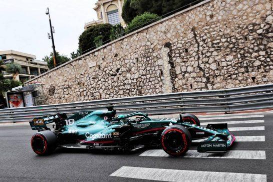 Lance Stroll (CDN) Aston Martin F1 Team AMR21. 22.05.2021. Formula 1 World Championship, Rd 5, Monaco Grand Prix, Monte Carlo, Monaco, Qualifying Day. - www.xpbimages.com, EMail: requests@xpbimages.com © Copyright: Batchelor / XPB Images