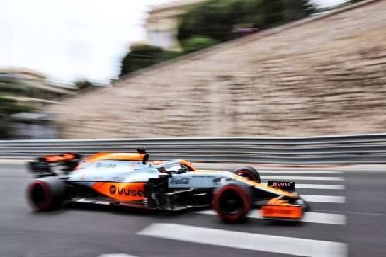 Daniel Ricciardo (AUS) McLaren MCL35M. 22.05.2021. Formula 1 World Championship, Rd 5, Monaco Grand Prix, Monte Carlo, Monaco, Qualifying Day. - www.xpbimages.com, EMail: requests@xpbimages.com © Copyright: Batchelor / XPB Images