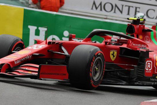 Carlos Sainz Jr (ESP) Ferrari SF-21.22.05.2021. Formula 1 World Championship, Rd 5, Monaco Grand Prix, Monte Carlo, Monaco, Qualifying Day.- www.xpbimages.com, EMail: requests@xpbimages.com © Copyright: Batchelor / XPB Images