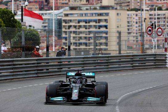 Lewis Hamilton (GBR) Mercedes AMG F1 W12.22.05.2021. Formula 1 World Championship, Rd 5, Monaco Grand Prix, Monte Carlo, Monaco, Qualifying Day.- www.xpbimages.com, EMail: requests@xpbimages.com © Copyright: Batchelor / XPB Images