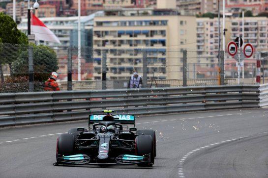Valtteri Bottas (FIN) Mercedes AMG F1 W12.22.05.2021. Formula 1 World Championship, Rd 5, Monaco Grand Prix, Monte Carlo, Monaco, Qualifying Day.- www.xpbimages.com, EMail: requests@xpbimages.com © Copyright: Batchelor / XPB Images