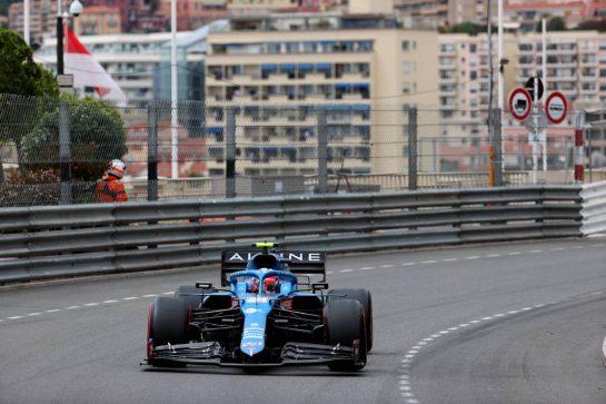 Esteban Ocon (FRA) Alpine F1 Team A521.22.05.2021. Formula 1 World Championship, Rd 5, Monaco Grand Prix, Monte Carlo, Monaco, Qualifying Day.- www.xpbimages.com, EMail: requests@xpbimages.com © Copyright: Batchelor / XPB Images