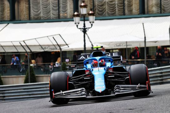 Esteban Ocon (FRA) Alpine F1 Team A521. 22.05.2021. Formula 1 World Championship, Rd 5, Monaco Grand Prix, Monte Carlo, Monaco, Qualifying Day. - www.xpbimages.com, EMail: requests@xpbimages.com © Copyright: Moy / XPB Images