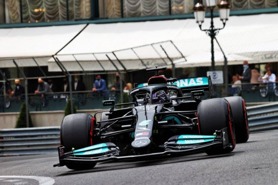 Lewis Hamilton (GBR) Mercedes AMG F1 W12. 22.05.2021. Formula 1 World Championship, Rd 5, Monaco Grand Prix, Monte Carlo, Monaco, Qualifying Day. - www.xpbimages.com, EMail: requests@xpbimages.com © Copyright: Moy / XPB Images