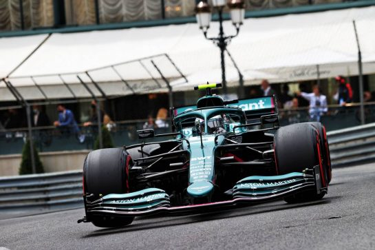 Sebastian Vettel (GER) Aston Martin F1 Team AMR21. 22.05.2021. Formula 1 World Championship, Rd 5, Monaco Grand Prix, Monte Carlo, Monaco, Qualifying Day. - www.xpbimages.com, EMail: requests@xpbimages.com © Copyright: Moy / XPB Images