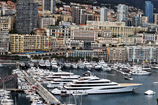 Boats in the scenic Monaco Harbour. 22.05.2021. Formula 1 World Championship, Rd 5, Monaco Grand Prix, Monte Carlo, Monaco, Qualifying Day. - www.xpbimages.com, EMail: requests@xpbimages.com © Copyright: Moy / XPB Images