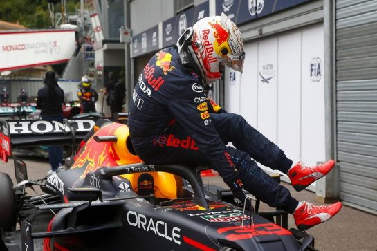 Max Verstappen (NLD) Red Bull Racing RB16B in qualifying parc ferme. 22.05.2021. Formula 1 World Championship, Rd 5, Monaco Grand Prix, Monte Carlo, Monaco, Qualifying Day. - www.xpbimages.com, EMail: requests@xpbimages.com © Copyright: FIA Pool Image for Editorial Use Only