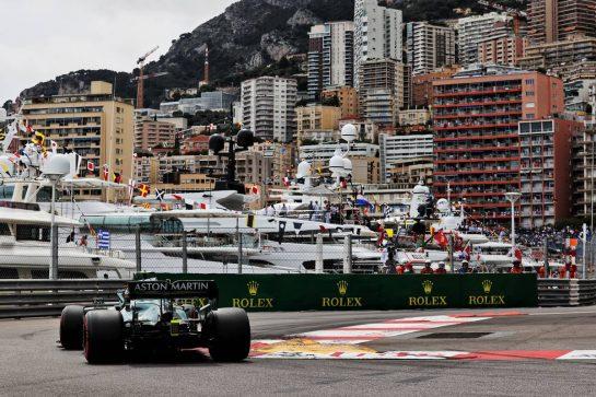 Sebastian Vettel (GER) Aston Martin F1 Team AMR21. 22.05.2021. Formula 1 World Championship, Rd 5, Monaco Grand Prix, Monte Carlo, Monaco, Qualifying Day. - www.xpbimages.com, EMail: requests@xpbimages.com © Copyright: Batchelor / XPB Images
