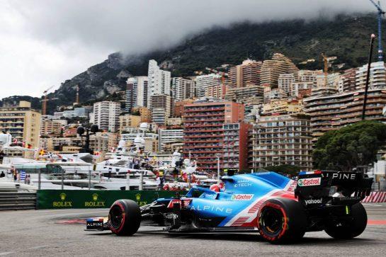 Esteban Ocon (FRA) Alpine F1 Team A521. 22.05.2021. Formula 1 World Championship, Rd 5, Monaco Grand Prix, Monte Carlo, Monaco, Qualifying Day. - www.xpbimages.com, EMail: requests@xpbimages.com © Copyright: Batchelor / XPB Images