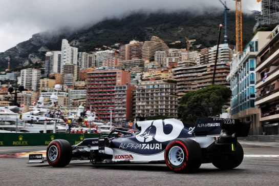 Yuki Tsunoda (JPN) AlphaTauri AT02. 22.05.2021. Formula 1 World Championship, Rd 5, Monaco Grand Prix, Monte Carlo, Monaco, Qualifying Day. - www.xpbimages.com, EMail: requests@xpbimages.com © Copyright: Batchelor / XPB Images