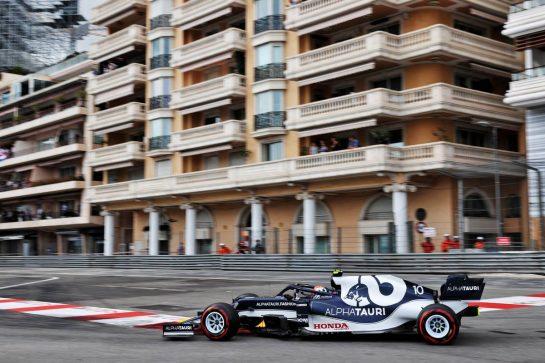 Pierre Gasly (FRA) AlphaTauri AT02. 22.05.2021. Formula 1 World Championship, Rd 5, Monaco Grand Prix, Monte Carlo, Monaco, Qualifying Day. - www.xpbimages.com, EMail: requests@xpbimages.com © Copyright: Batchelor / XPB Images
