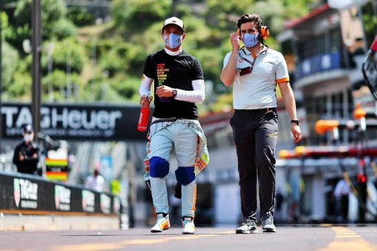 Lando Norris (GBR) McLaren. 23.05.2021. Formula 1 World Championship, Rd 5, Monaco Grand Prix, Monte Carlo, Monaco, Race Day. - www.xpbimages.com, EMail: requests@xpbimages.com © Copyright: Charniaux / XPB Images