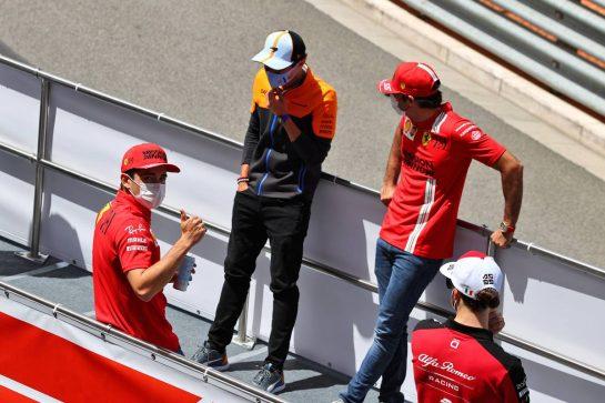 Charles Leclerc (MON) Ferrari on the drivers parade. 23.05.2021. Formula 1 World Championship, Rd 5, Monaco Grand Prix, Monte Carlo, Monaco, Race Day. - www.xpbimages.com, EMail: requests@xpbimages.com © Copyright: Moy / XPB Images