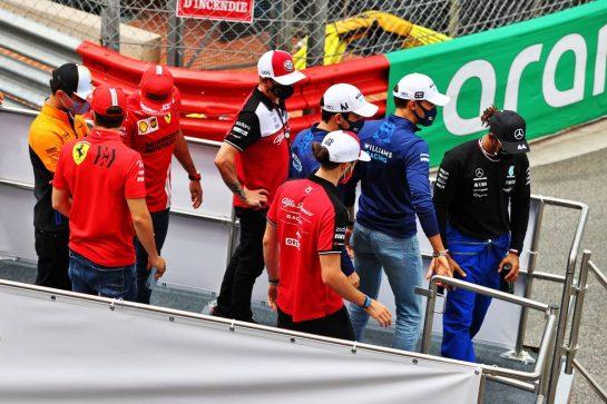 Drivers parade. 23.05.2021. Formula 1 World Championship, Rd 5, Monaco Grand Prix, Monte Carlo, Monaco, Race Day. - www.xpbimages.com, EMail: requests@xpbimages.com © Copyright: Moy / XPB Images