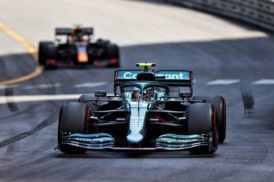 Sebastian Vettel (GER) Aston Martin F1 Team AMR21. 23.05.2021. Formula 1 World Championship, Rd 5, Monaco Grand Prix, Monte Carlo, Monaco, Race Day. - www.xpbimages.com, EMail: requests@xpbimages.com © Copyright: Moy / XPB Images