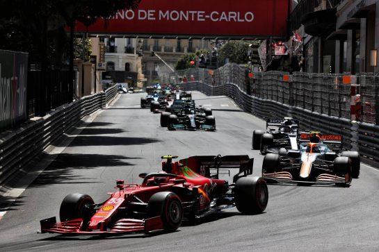 Carlos Sainz Jr (ESP) Ferrari SF-21. 23.05.2021. Formula 1 World Championship, Rd 5, Monaco Grand Prix, Monte Carlo, Monaco, Race Day. - www.xpbimages.com, EMail: requests@xpbimages.com © Copyright: Batchelor / XPB Images