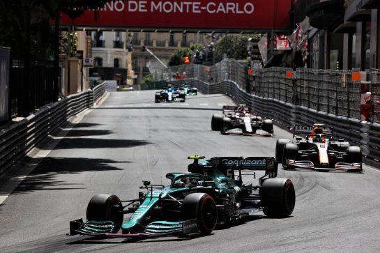 Sebastian Vettel (GER) Aston Martin F1 Team AMR21. 23.05.2021. Formula 1 World Championship, Rd 5, Monaco Grand Prix, Monte Carlo, Monaco, Race Day. - www.xpbimages.com, EMail: requests@xpbimages.com © Copyright: Batchelor / XPB Images