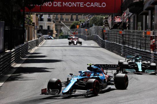 Esteban Ocon (FRA) Alpine F1 Team A521. 23.05.2021. Formula 1 World Championship, Rd 5, Monaco Grand Prix, Monte Carlo, Monaco, Race Day. - www.xpbimages.com, EMail: requests@xpbimages.com © Copyright: Batchelor / XPB Images