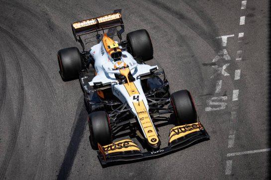 Lando Norris (GBR) McLaren MCL35M. 23.05.2021. Formula 1 World Championship, Rd 5, Monaco Grand Prix, Monte Carlo, Monaco, Race Day. - www.xpbimages.com, EMail: requests@xpbimages.com © Copyright: Bearne / XPB Images
