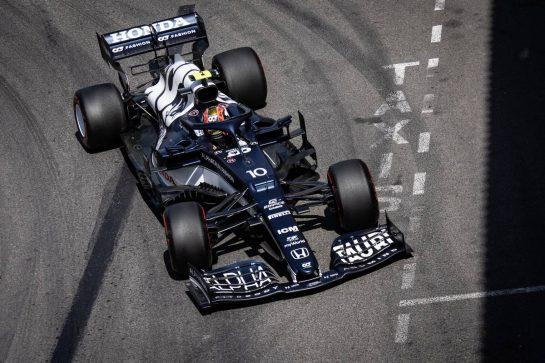 Pierre Gasly (FRA) AlphaTauri AT02. 23.05.2021. Formula 1 World Championship, Rd 5, Monaco Grand Prix, Monte Carlo, Monaco, Race Day. - www.xpbimages.com, EMail: requests@xpbimages.com © Copyright: Bearne / XPB Images