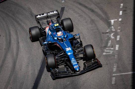 Esteban Ocon (FRA) Alpine F1 Team A521. 23.05.2021. Formula 1 World Championship, Rd 5, Monaco Grand Prix, Monte Carlo, Monaco, Race Day. - www.xpbimages.com, EMail: requests@xpbimages.com © Copyright: Bearne / XPB Images