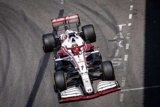 Kimi Raikkonen (FIN) Alfa Romeo Racing C41. 23.05.2021. Formula 1 World Championship, Rd 5, Monaco Grand Prix, Monte Carlo, Monaco, Race Day. - www.xpbimages.com, EMail: requests@xpbimages.com © Copyright: Bearne / XPB Images