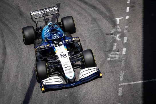 George Russell (GBR) Williams Racing FW43B. 23.05.2021. Formula 1 World Championship, Rd 5, Monaco Grand Prix, Monte Carlo, Monaco, Race Day. - www.xpbimages.com, EMail: requests@xpbimages.com © Copyright: Bearne / XPB Images