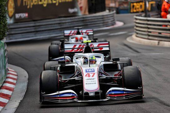 Mick Schumacher (GER) Haas VF-21. 23.05.2021. Formula 1 World Championship, Rd 5, Monaco Grand Prix, Monte Carlo, Monaco, Race Day. - www.xpbimages.com, EMail: requests@xpbimages.com © Copyright: Batchelor / XPB Images