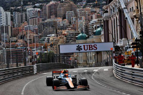 Lando Norris (GBR) McLaren MCL35M. 23.05.2021. Formula 1 World Championship, Rd 5, Monaco Grand Prix, Monte Carlo, Monaco, Race Day. - www.xpbimages.com, EMail: requests@xpbimages.com © Copyright: Batchelor / XPB Images
