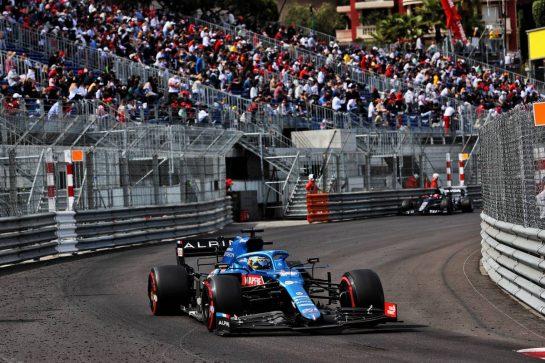 Fernando Alonso (ESP) Alpine F1 Team A521. 23.05.2021. Formula 1 World Championship, Rd 5, Monaco Grand Prix, Monte Carlo, Monaco, Race Day. - www.xpbimages.com, EMail: requests@xpbimages.com © Copyright: Batchelor / XPB Images