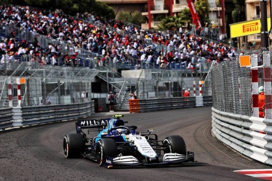 Nicholas Latifi (CDN) Williams Racing FW43B. 23.05.2021. Formula 1 World Championship, Rd 5, Monaco Grand Prix, Monte Carlo, Monaco, Race Day. - www.xpbimages.com, EMail: requests@xpbimages.com © Copyright: Batchelor / XPB Images