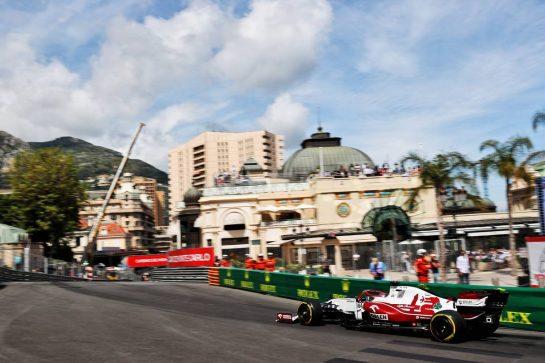 Kimi Raikkonen (FIN) Alfa Romeo Racing C41. 23.05.2021. Formula 1 World Championship, Rd 5, Monaco Grand Prix, Monte Carlo, Monaco, Race Day. - www.xpbimages.com, EMail: requests@xpbimages.com © Copyright: Batchelor / XPB Images