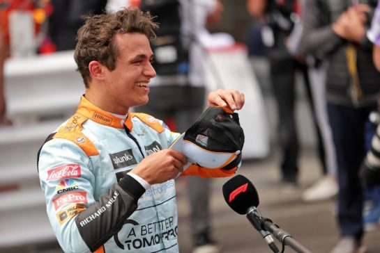 Third plcaed Lando Norris (GBR) McLaren in parc ferme. 23.05.2021. Formula 1 World Championship, Rd 5, Monaco Grand Prix, Monte Carlo, Monaco, Race Day. - www.xpbimages.com, EMail: requests@xpbimages.com © Copyright: Bearne / XPB Images