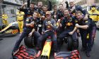 Race winner Max Verstappen (NLD) Red Bull Racing RB16B celebrates with the team in parc ferme. 23.05.2021. Formula 1 World Championship, Rd 5, Monaco Grand Prix, Monte Carlo