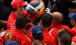 Binotto: 'Very positive' to see Leclerc celebrate Sainz podium