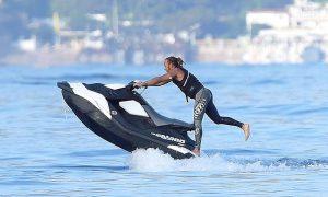 Hamilton and Rosberg ride the Mediterranean waves