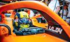 Lando Norris in the McLaren garage preparing for the Azerbaijan GP qualifying - Saturday June 5 2021.