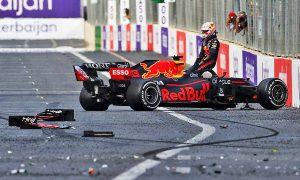 Perez wins Baku shoot-out after Verstappen disaster