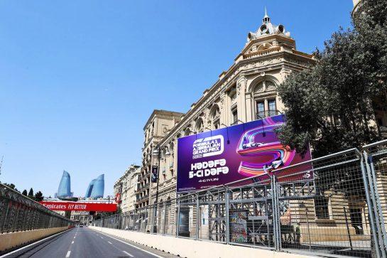 Circuit atmosphere - F1 billboard. 03.06.2021. Formula 1 World Championship, Rd 6, Azerbaijan Grand Prix, Baku Street Circuit, Azerbaijan, Preparation Day. - www.xpbimages.com, EMail: requests@xpbimages.com © Copyright: Moy / XPB Images