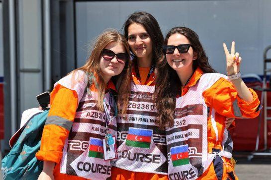 Circuit atmosphere - marshals. 03.06.2021. Formula 1 World Championship, Rd 6, Azerbaijan Grand Prix, Baku Street Circuit, Azerbaijan, Preparation Day. - www.xpbimages.com, EMail: requests@xpbimages.com © Copyright: Batchelor / XPB Images